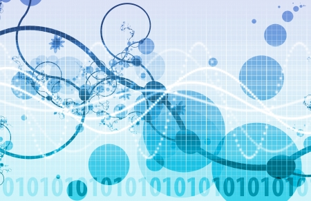 Abstract Background with a Technology Theme Art Stock Photo - 13762911