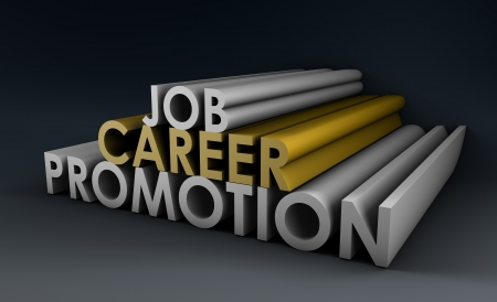 Job Career Promotion and a Pay Raise Stock Photo - 13762900