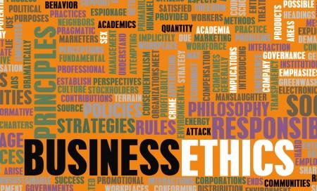 valores morales: Ética en los Negocios y las Directrices como un concepto