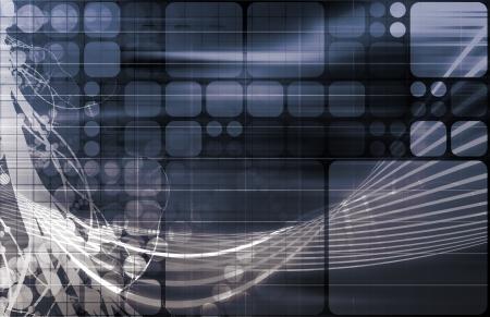medische kunst: Medical Research en Corporate Technology als Art Stockfoto