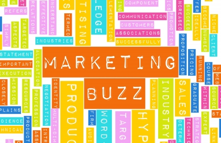 Marketing Buzz and Building the Hype as Concept photo
