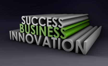 selling points: Business Innovation as an Important Idea in 3d Stock Photo