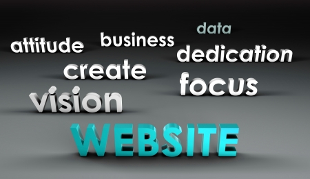 Website at the Forefront in 3d Presentation photo