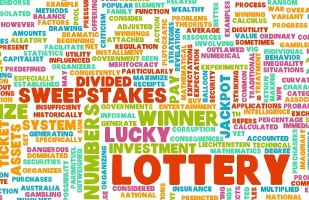 loteria: Lottery Ticket de un ganador seleccionado Lucky Foto de archivo