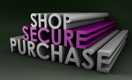 Shop Securely Online with Web Protection Concept Stock Photo - 14014411