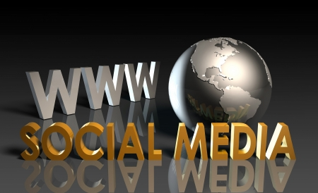connectedness: Social Media of Online Content on the Web Stock Photo