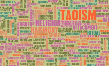 Taoism or Taoist Religion as a Concept Stock Photo