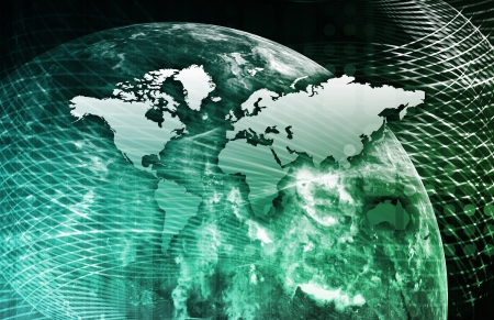 Security Network Data of the World Background Stock Photo
