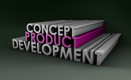 Product Development Step and Phase as Concept photo