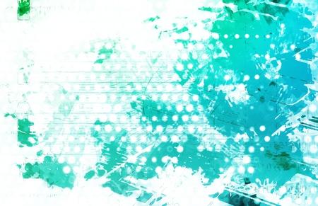 Artistic Grunge Splatter with Print Pattern Art Stock Photo - 18827969