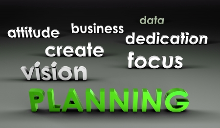 Planning at the Forefront in 3d Presentation Stock Photo - 18828049