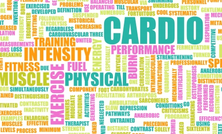 cardio workout: Cardio Workout or High Intensity Fitness Concept Stock Photo