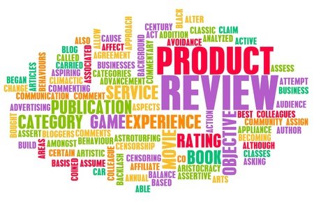 content writing: Product Review Word Cloud as a Concept