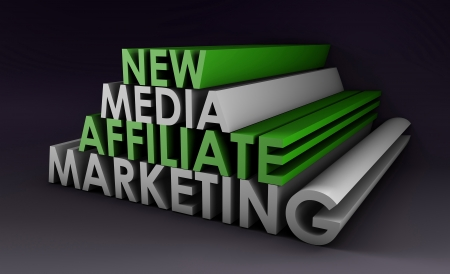 Affiliate Marketing Concept on a Online Referral photo