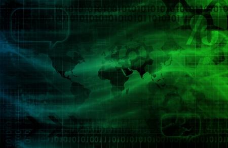 Digital Identity Management as New Technology Art 스톡 콘텐츠
