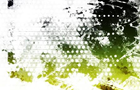 Artistic Grunge Splatter with Print Pattern Art Stock Photo - 18828261