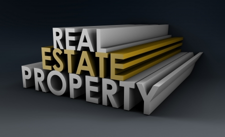 Real Estate Property in the Property Sector in 3d photo