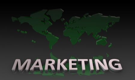 situational: World Marketing on a Global Scale Background Stock Photo