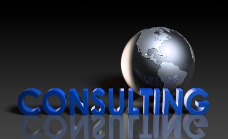 Services de consultation à l'échelle mondiale en 3d Banque d'images - 18975150