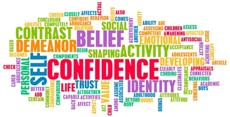 self confidence: Confidence in Personal Belief and Self Developing Stock Photo