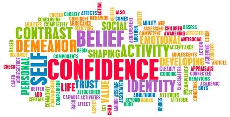 confianza: La confianza en las convicciones personales y Auto Desarrollo Foto de archivo
