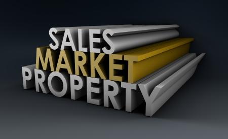 부동산 부문 판매 시장 속성 스톡 콘텐츠