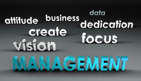 Management at the Forefront in 3d Presentation Stock Photo - 19059358