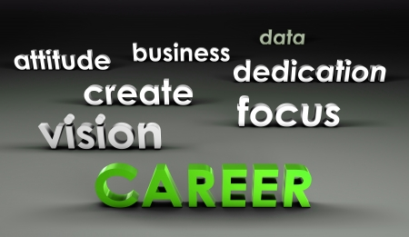 Career at the Forefront in 3d Presentation Stock Photo - 19059348