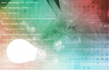 Information Technology or IT Infotech as a Art Stock Photo - 19143268
