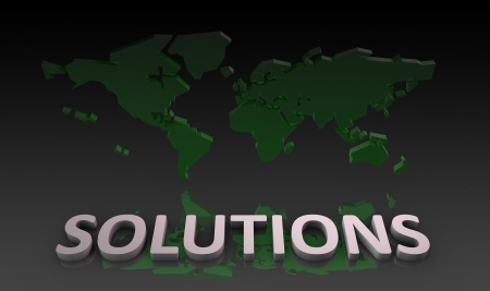 개념으로서 회사를위한 글로벌 솔루션