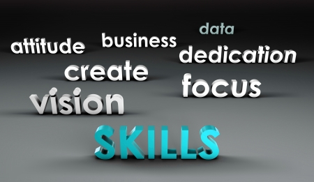 Skills at the Forefront in 3d Presentation Stock Photo - 19143222