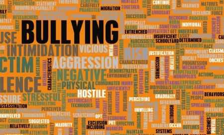 conflictos sociales: La intimidación como un problema social con los niños Foto de archivo