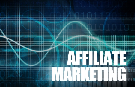 advertiser: Affiliate Marketing to Make Money Online Concept Stock Photo