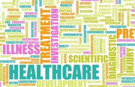 Gezondheidszorg in de medische industrie als Concept