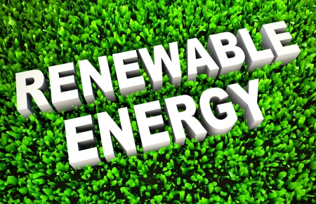 petrol powered: Renewable Energy and Sources as a Concept in 3D Stock Photo