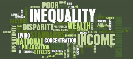 L'inégalité du revenu et la distribution de la richesse que l'Art Banque d'images - 19215226
