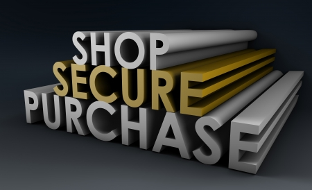 Shop Securely Online with Web Protection Concept Stock Photo - 19215238