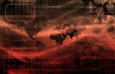 virtualizacion: Tecnolog�a Concepto Visual de un Negocio corporativo