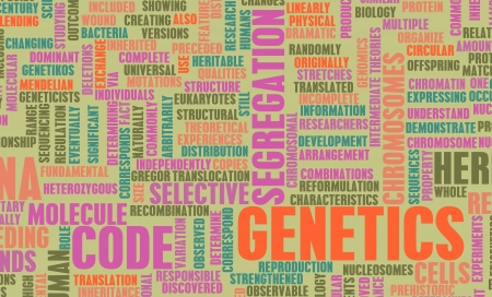 Genetics and the Genetic Code Science Concept Stock Photo - 19215243