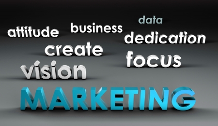 Marketing at the Forefront in 3d Presentation Stock Photo - 19215242