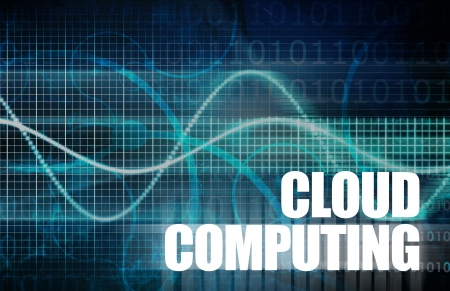 Cloud Computing for Electronic Work Online Art Stock Photo - 19290181