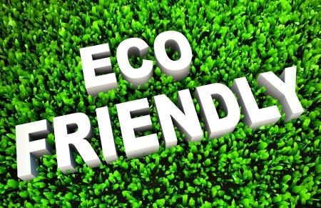 Eco Friendly Concept op Green Grass en tekst Stockfoto