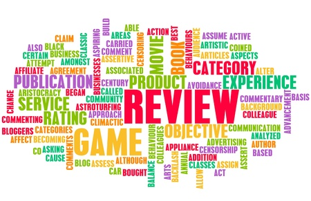 Game Review Word Cloud as a Concept Stock Photo - 19290197