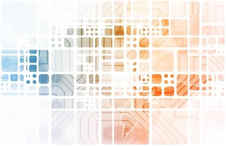 Virtual Technology with Data Network Stream Art