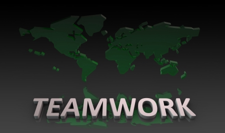 Teamwork by a Global Team as Concept Stock Photo - 19441674