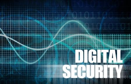 Digital Security Industry through Online Data Art Stock Photo - 19605051