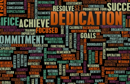 attaining: Dedication and Sacrifice for Your Own Goals Stock Photo