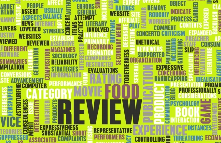 Food Review Word Cloud as a Concept Stock Photo - 19605044