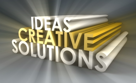 Creative Ideas and Solutions as 3d Illustration Stock Photo