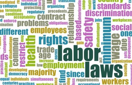 Leyes laborales en el lugar de trabajo como concepto